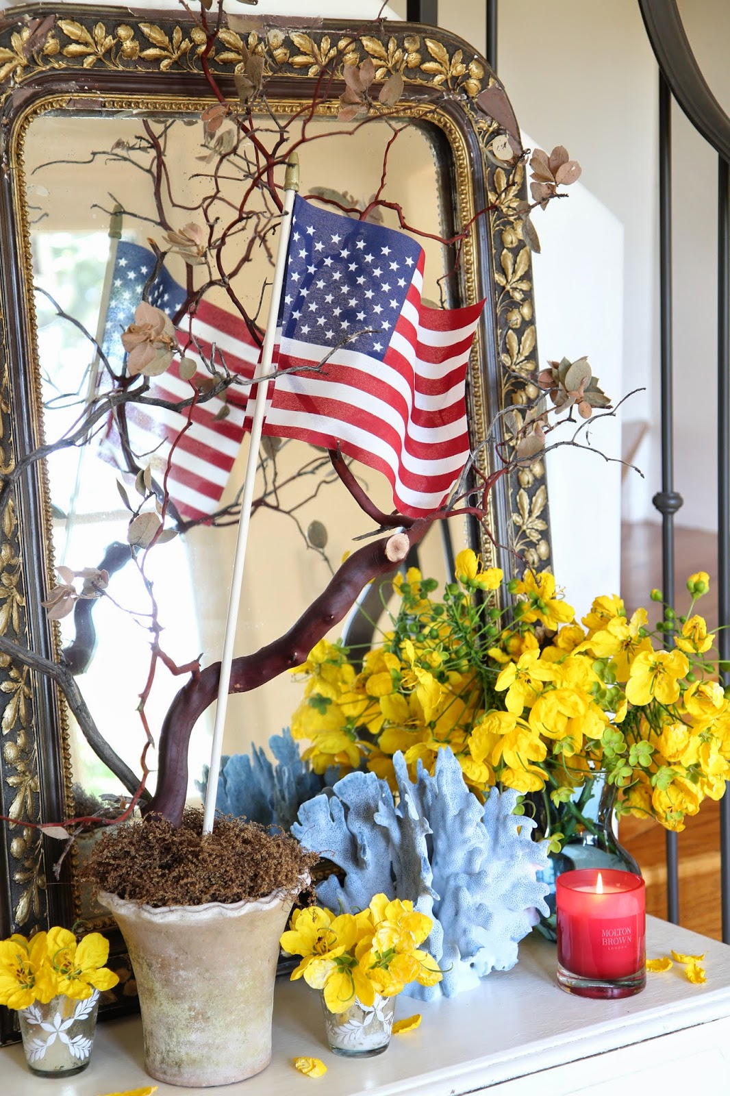 Fourth of July Decor Foyer; Nora's Nest