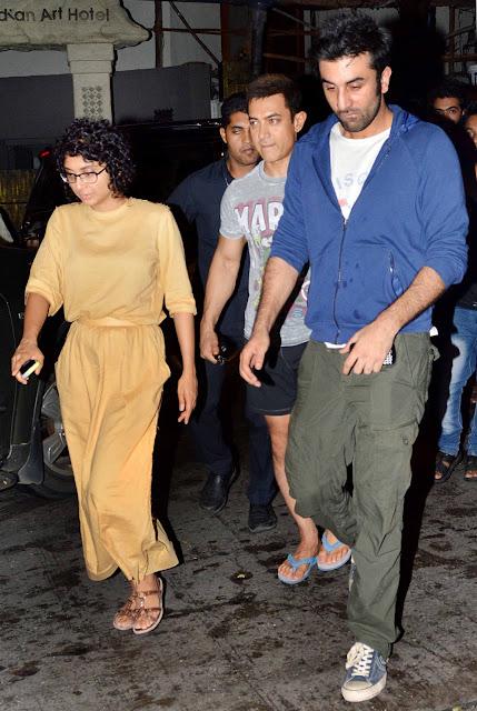 Kiran Rao, Aamir Khan and Ranbir Kapoor