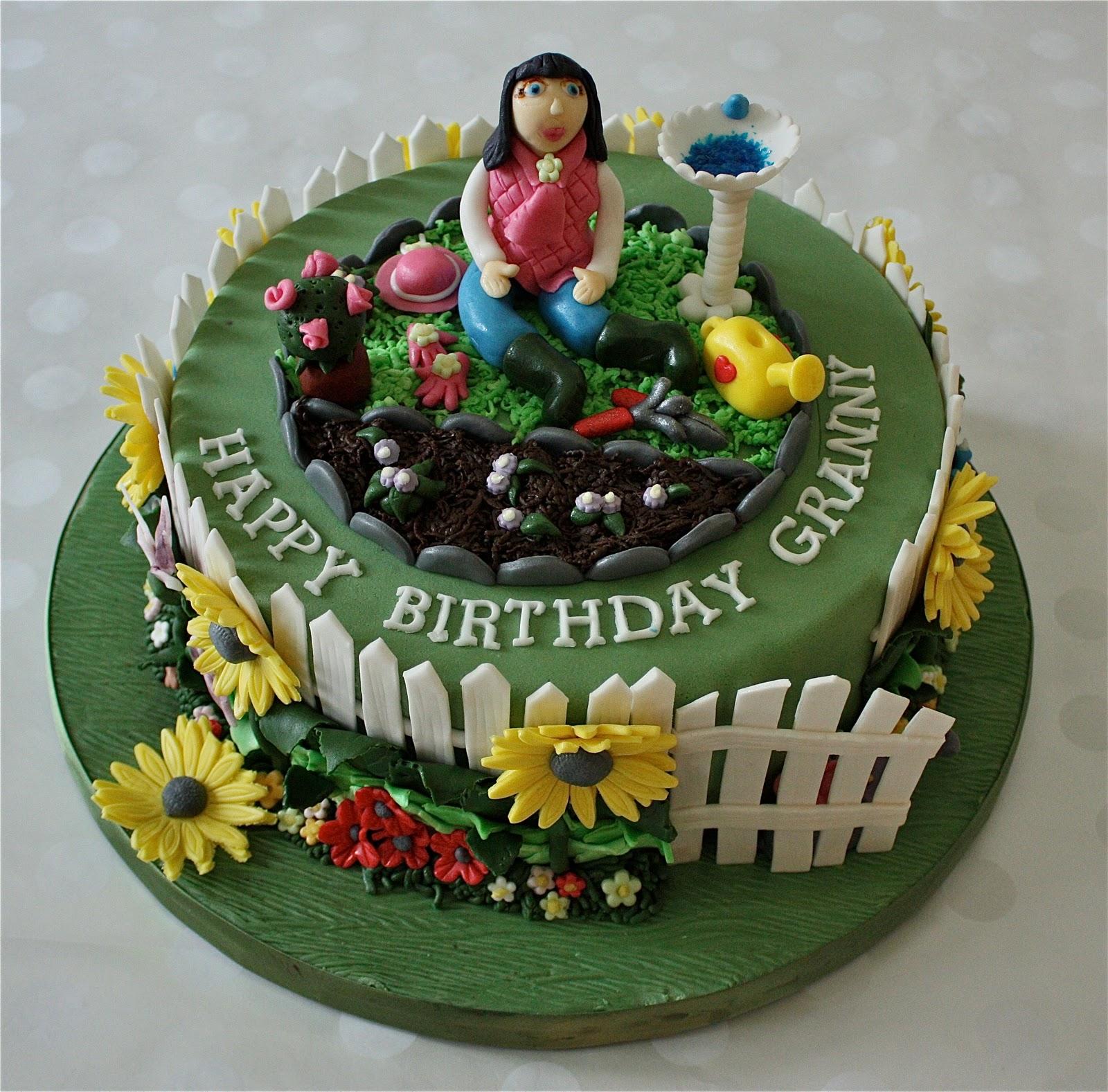 -: GARDENING CAKE