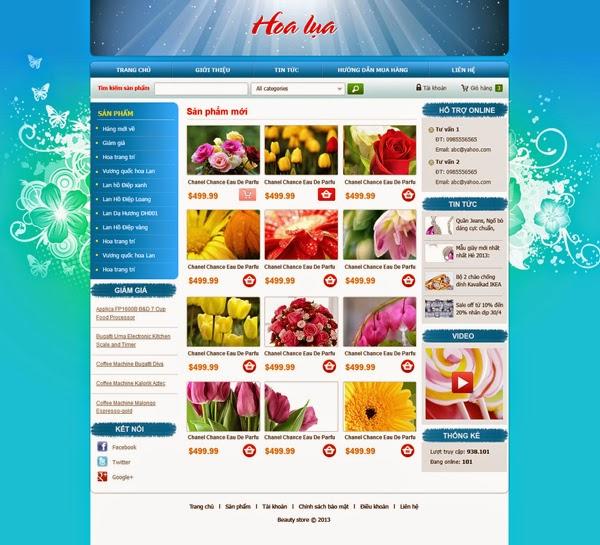 dịch vụ thiết kế website bán hàng hoa tươi