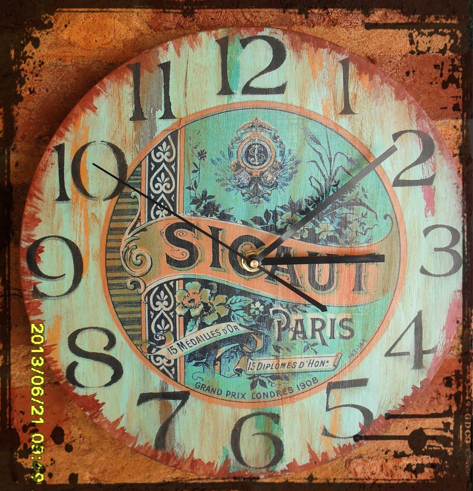 Libert deco vintage reloj estilo industrial for Reloj pared estilo industrial