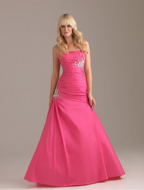 Taffeta Softly Curved Strapless Neckline Mermaid Prom Dress with Beading Accents