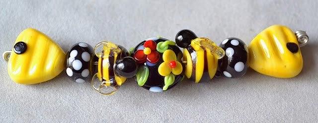 Lampwork beads by Marianna Boylan