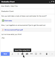 GMail Users can Now Send Files Upto 10 GB with Google Drive Integration