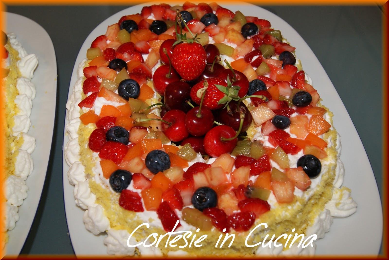 Cortesie in cucina torta di compleanno con frutta fresca for Isola cucina a forma di torta
