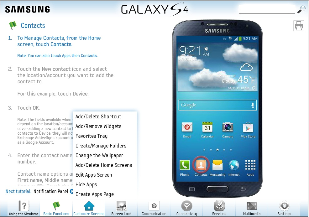 Hands-On Samsung Galaxy S4 In Web Browser