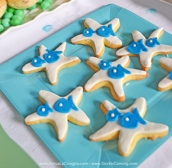 starfish shaped cookies for ocean party