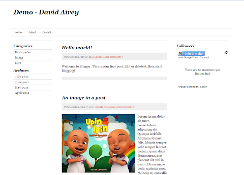 David Airey Blogger Theme