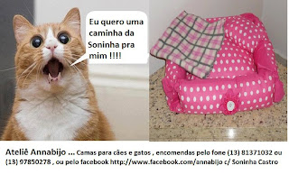 Ateliê Ananabijo ... Camas para Cães e Gatos, encomendas pelo telefone (13)8137-1032 ou (13) 9785-0278, ou pelo facebook https://www.facebook.com/annabijo com Soninha Castro.