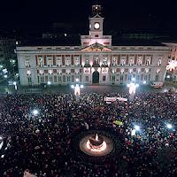 Puerta del Sol in Madrid tijdens oudejaarsavond