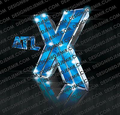 ATL X 3D Logo Design Atlanta Georgia
