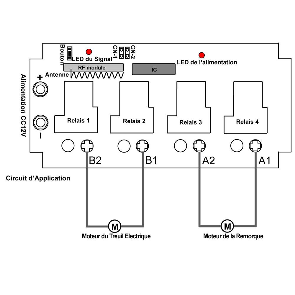 uitiliser un kit commande radio avec t u00e9l u00e9commande sans fil pour contr u00f4ler  u00e9quipement sans fil