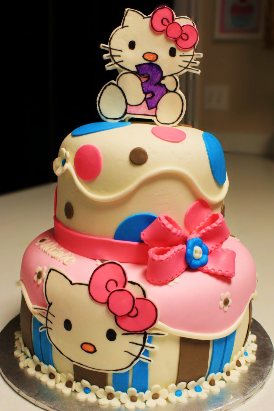 Images Of A Hello Kitty Cake : Layers of Love: Two Tier Hello Kitty Cake