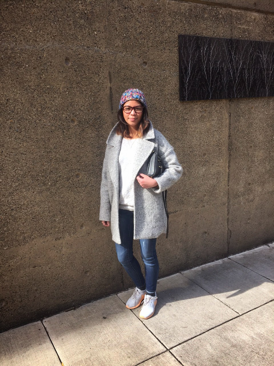 casual, everyday look, fashion blogger, filipino fashionista, forever 21, look of the day, mid rise jeans, nike roshe, old navy, oversized coat, portland bloggers, sneakers, spring 2015, the p town girls,