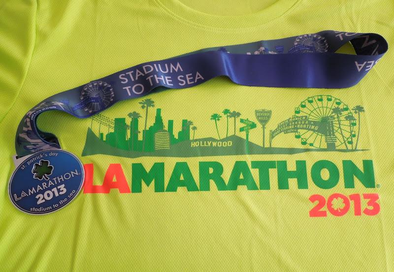LA Marathon 2013 medal t-shirt