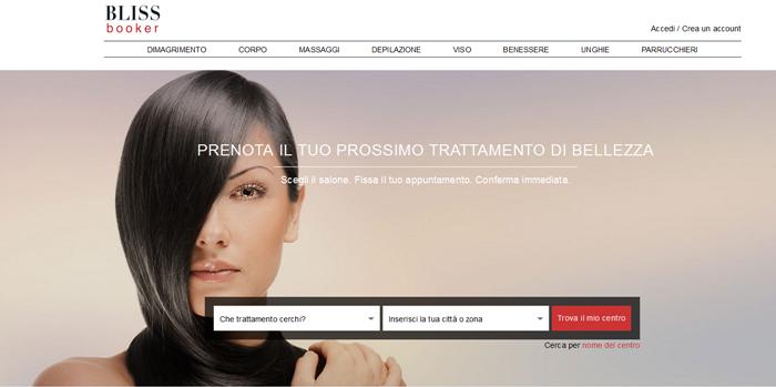 blissbooker portale prenotazione beauty