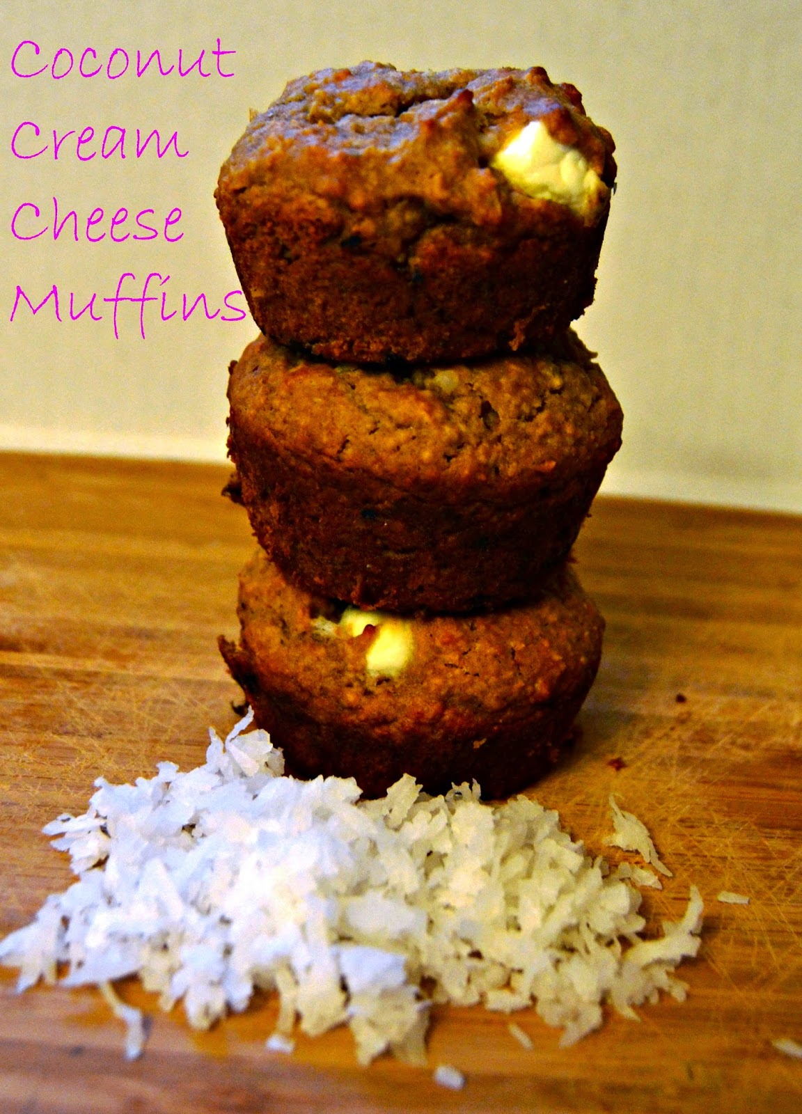 Coconut Cream Cheese Muffins