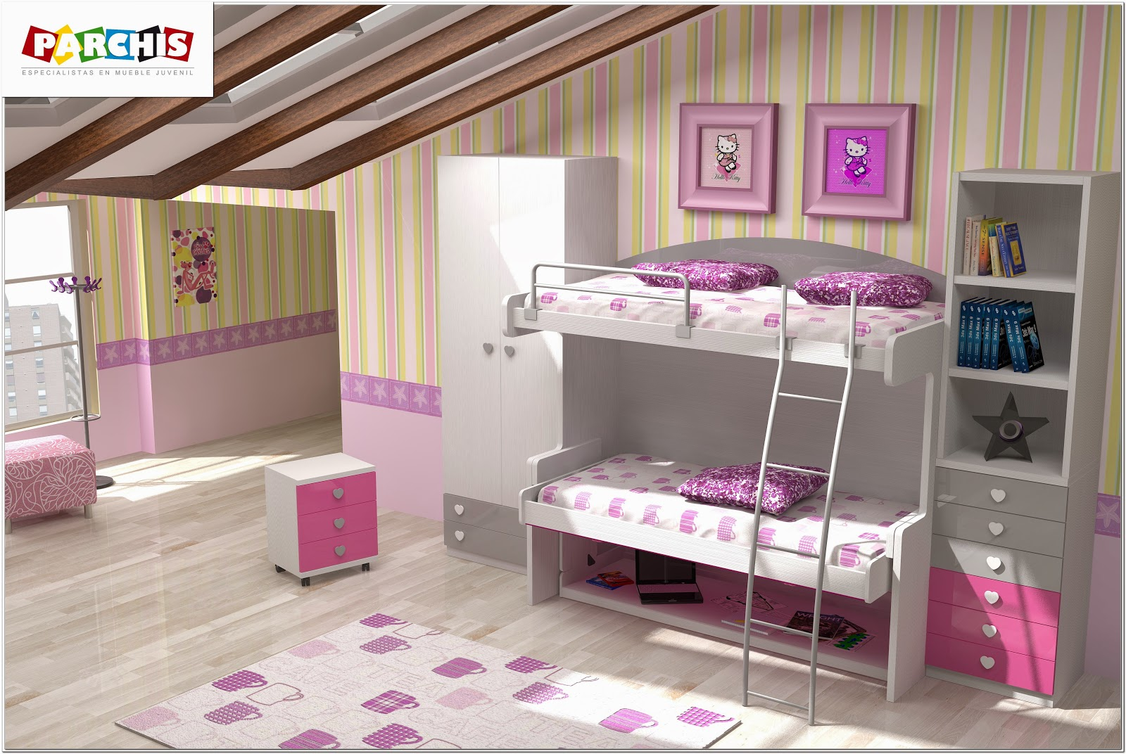 Muebles juveniles dormitorios infantiles y habitaciones - Dibujos habitaciones infantiles ...