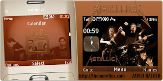 metallica c3 theme by zb Download Tema Nokia C3 Gratis