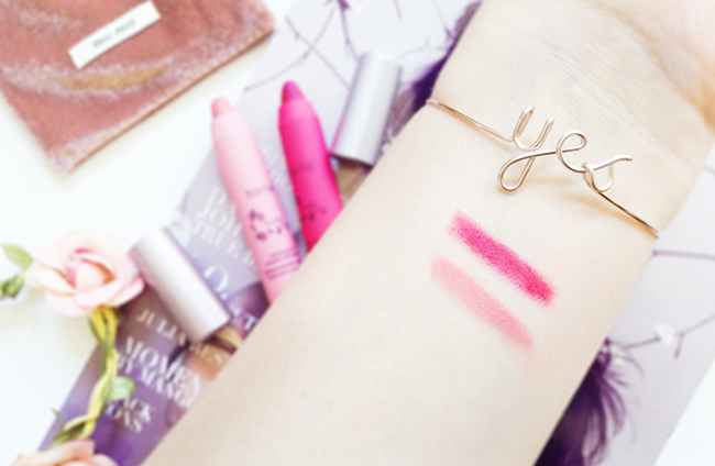 Tarte LipSurgence™ Matte Lip Tint Lucky & Lively beauty blog swatches