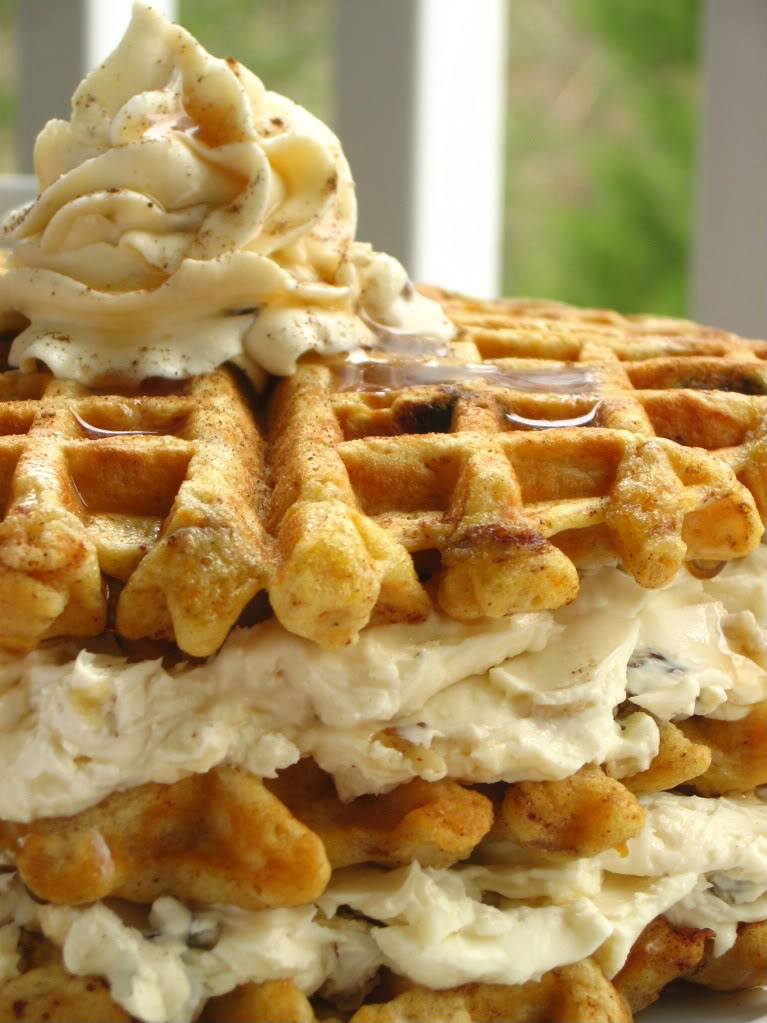 My Favorite Things: Carrot Cake Waffles with Maple Nut Cream Cheese ...