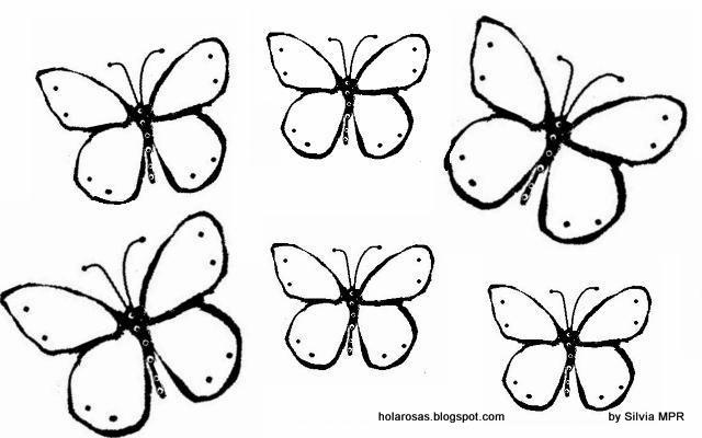 Mariposas pequeñas para colorear - Imagui