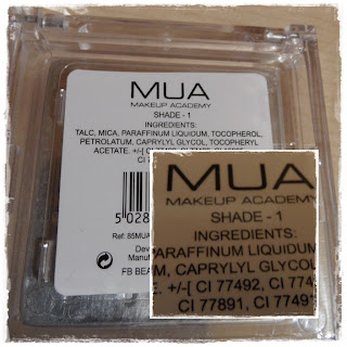 MUA pressed powder složení