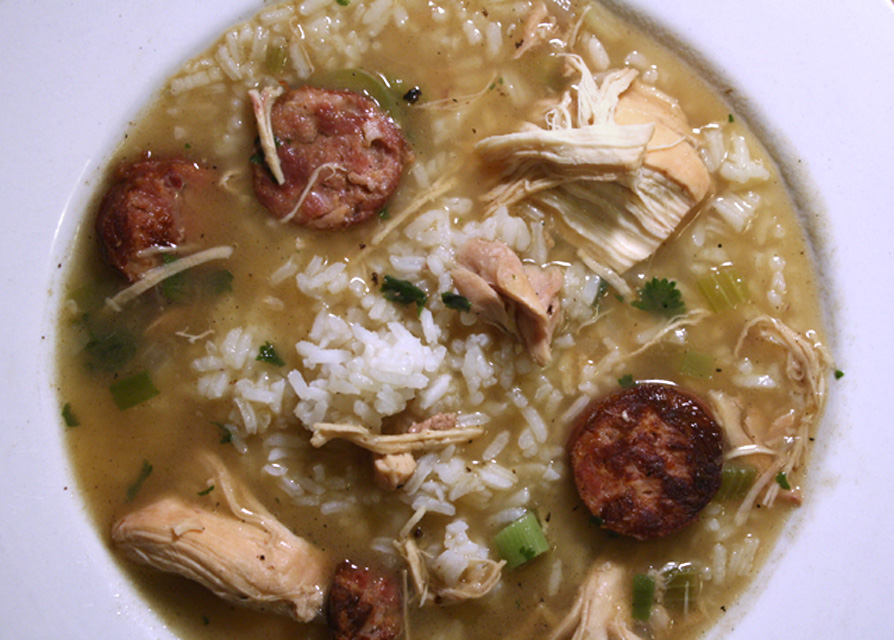 Mom's Chicken and Sausage Gumbo