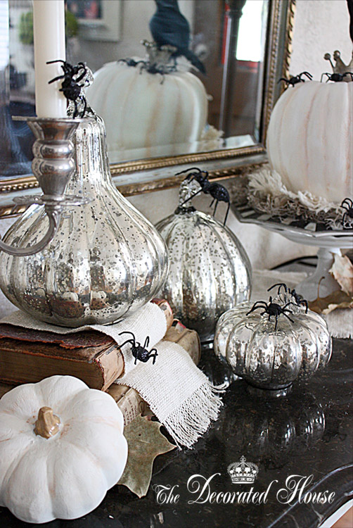 The Decorated House: ~ Halloween Decorating in Black & White with ...