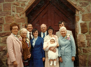 Herb O. Fisher Jr.'s family: Baptism at OLM