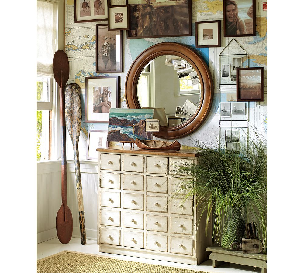 Going Coastal Pottery Barn Part I: House Envy* The Beach House: Up A Creek....with A Paddle