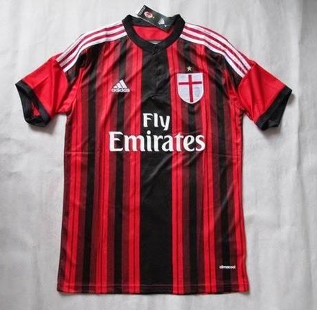 Ini tampilan baru jersey AC Milan musim 2014-2015