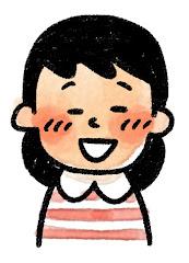 女の子の表情のイラスト(照れ)