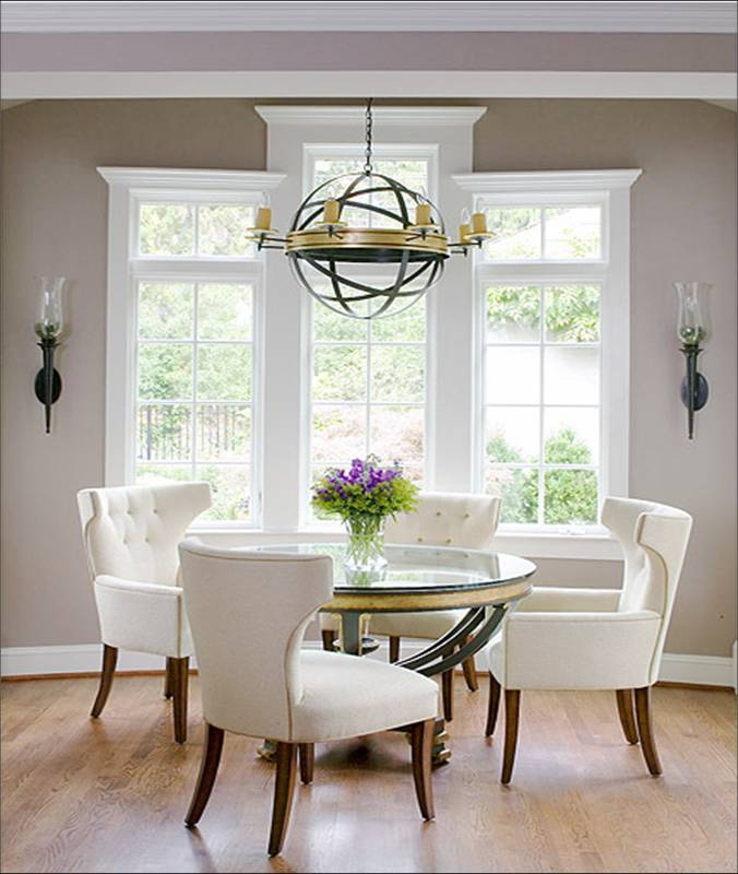 Furnitures fashion small dining room furniture design for White dining room chairs