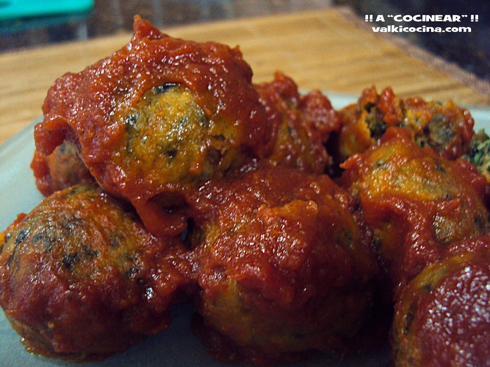 Recetas De Cocina Albondigas   Albondigas De Garbanzos Espinacas Y Pasas En Salsa De Tomate