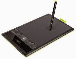 black tablet with a stylus pen