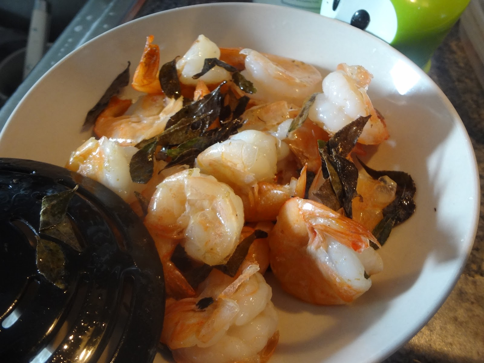 kitchen: Malaysian shrimp with curry leaves, tamarind and jasmine rice ...