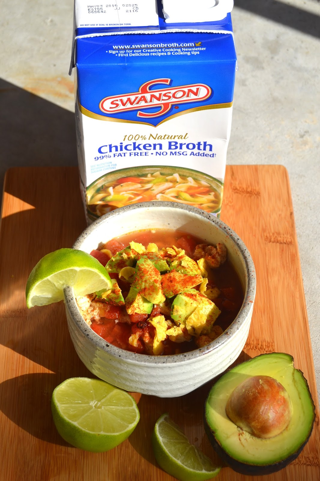 ... and a lime wedge. Squeeze the lime into your soup for the best flavor