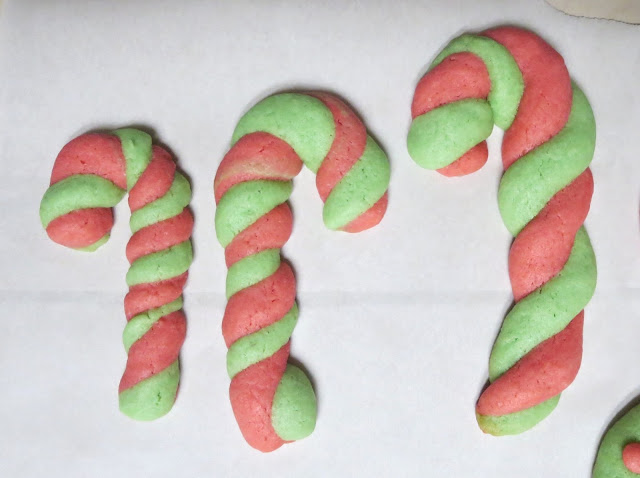 Homemade Candy Cane Christmas Cookies - After Baking