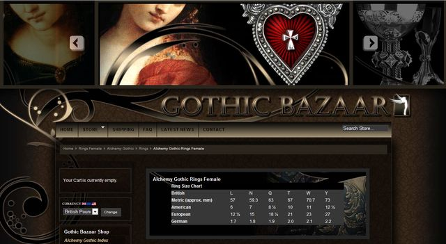 Gothic Rings from GothicBazaar.com - Great Gift for Valentine's Day