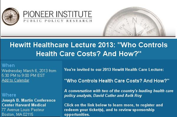 ... Hospital: Pioneer Institute wonders who controls health care costs