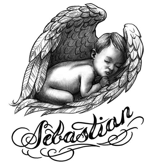 Ideas para tu tattoo: Ángel bebé