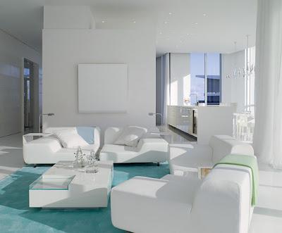 diseño de sala blanca