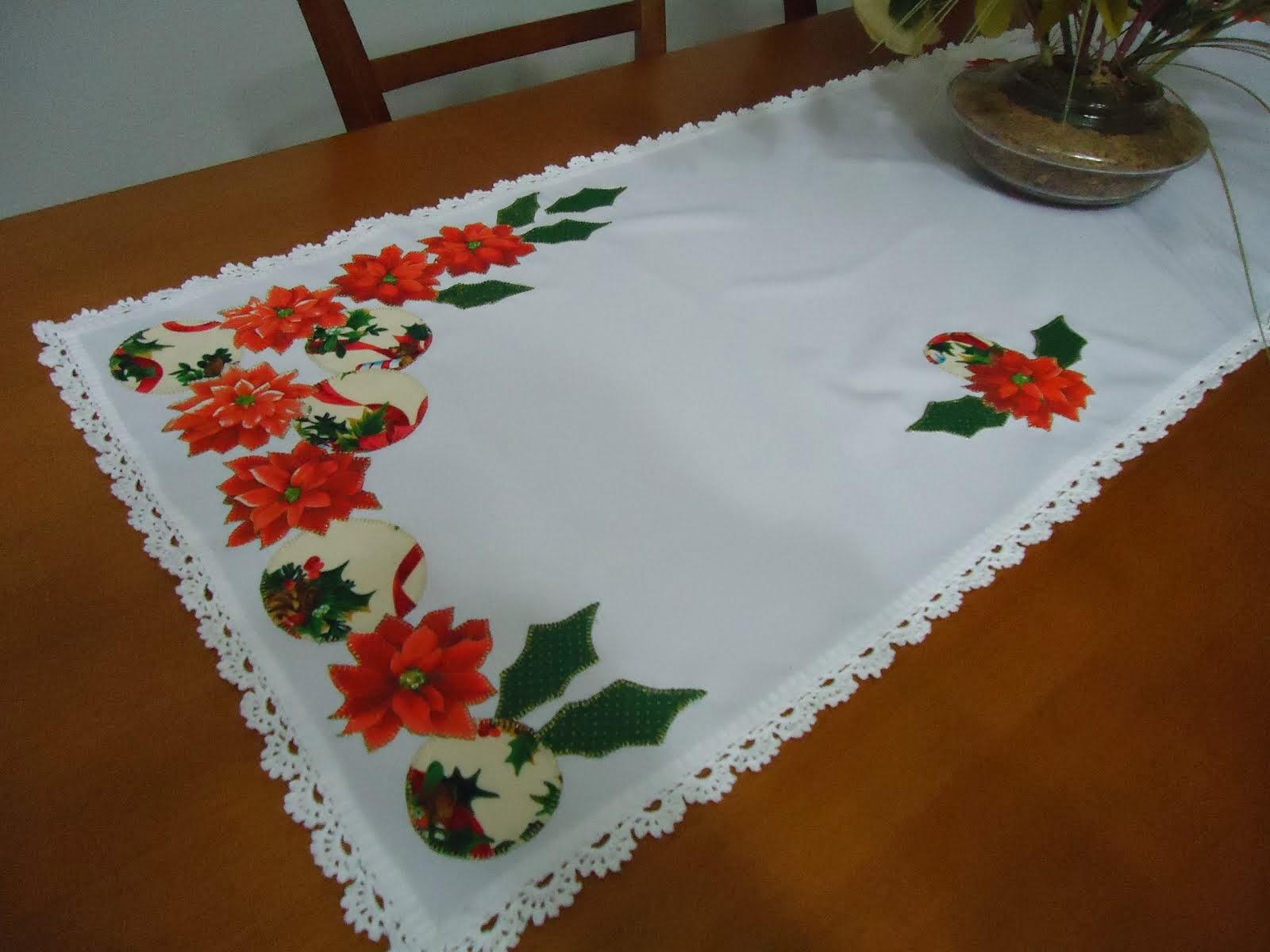 Caminho de mesa - patch apliqué - Natal