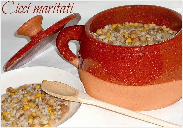 cicci maritati (zuppa di cereali e legumi cilentana)