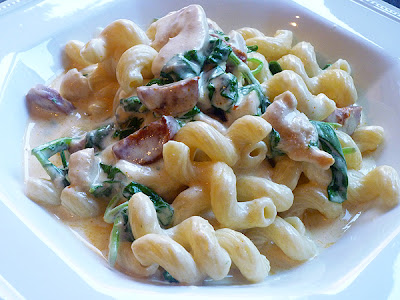 Cavatappi with Four Cheese Sauce, Chicken and Chorizo Recipe