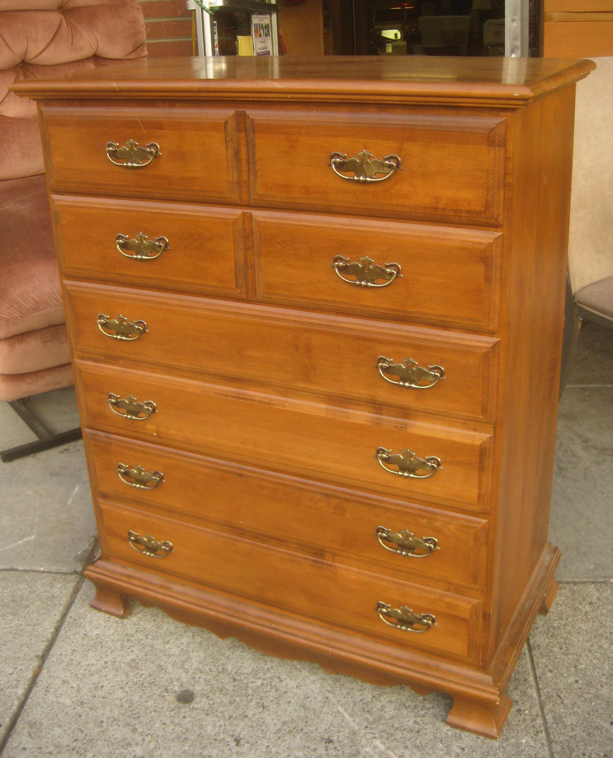 Uhuru Furniture Collectibles Sold Maple Highboy 95