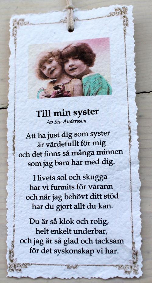 Till Min Dotter Till Min Syster