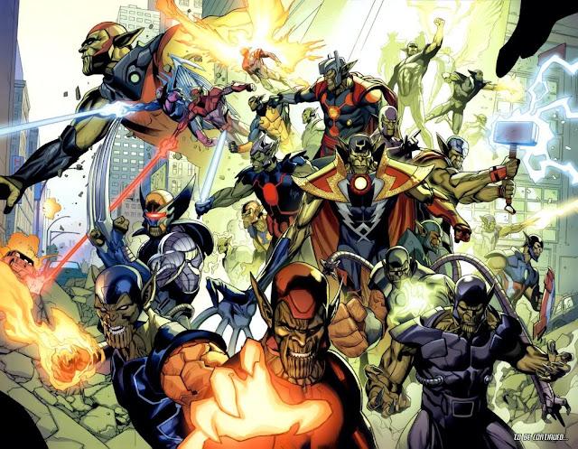 Avengers Skrulls aliens marvel comics