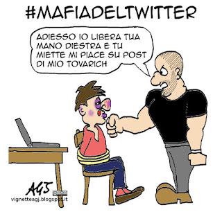 Twitter, social network, satira vignetta